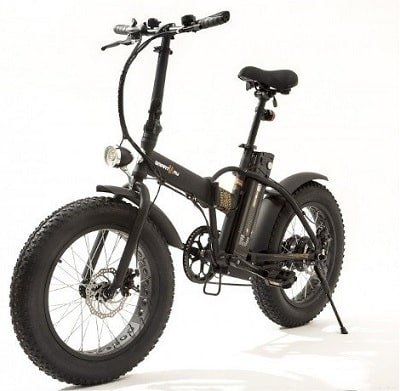 Monster Fat E-Bike Pieghevole Nera