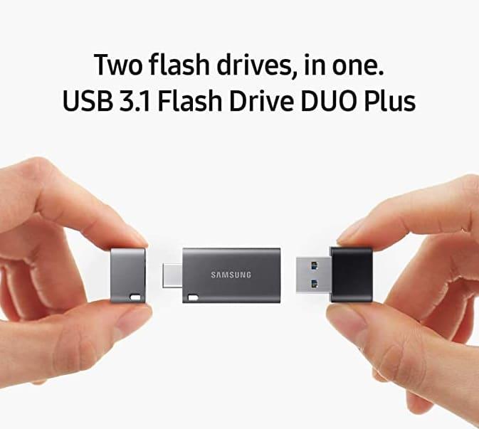 Sandisk Ultra Dual USB Drive Type-C 128 GB, USB 3.1 Type C, Nero/Argento